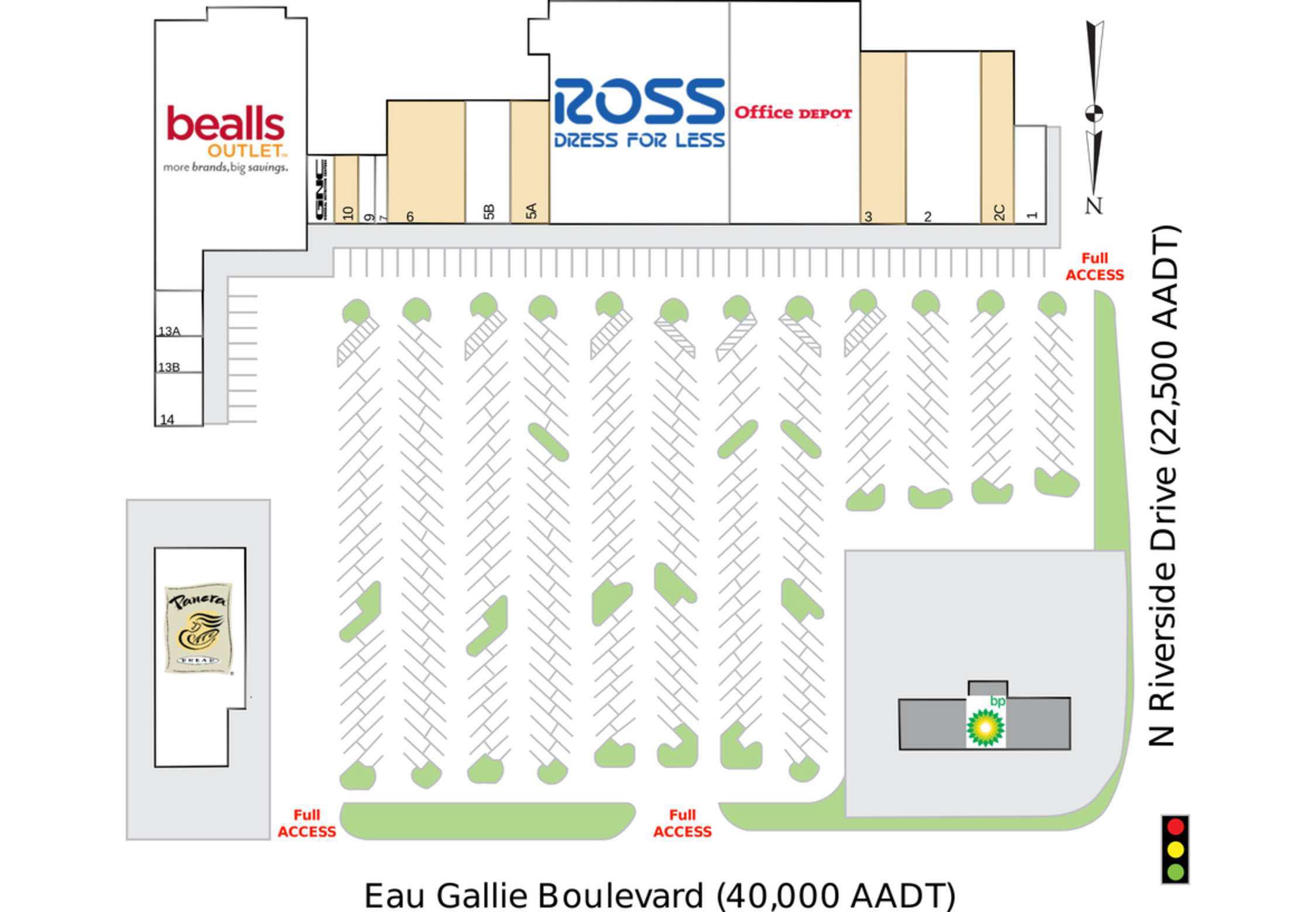 Causeway Shopping Center site plan