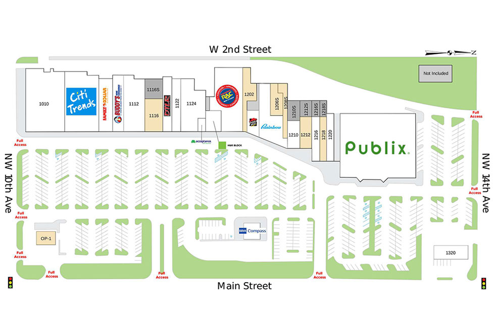 Gainesville Shopping Center site plan