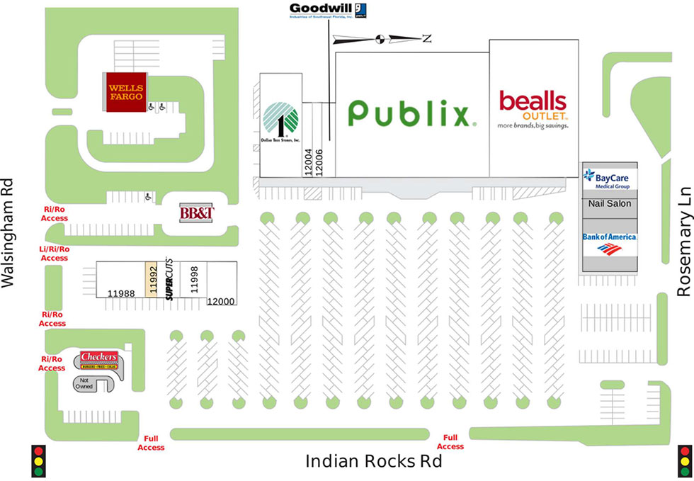 Indian Rocks Shopping Center site plan