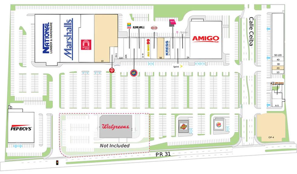 Juncos Plaza site plan