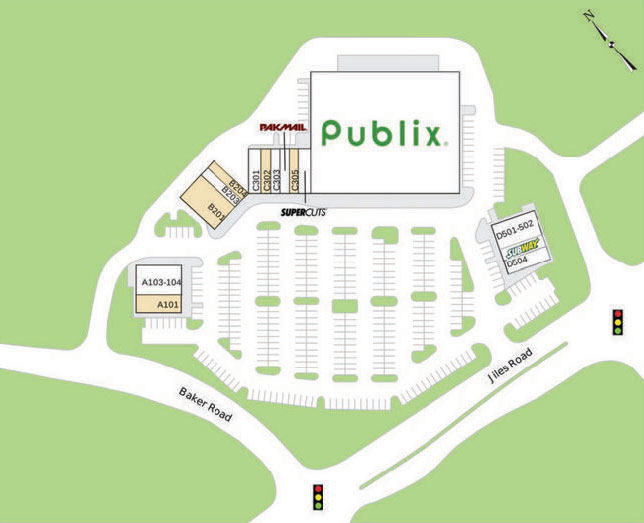 Kennesaw Walk Shopping Center site plan