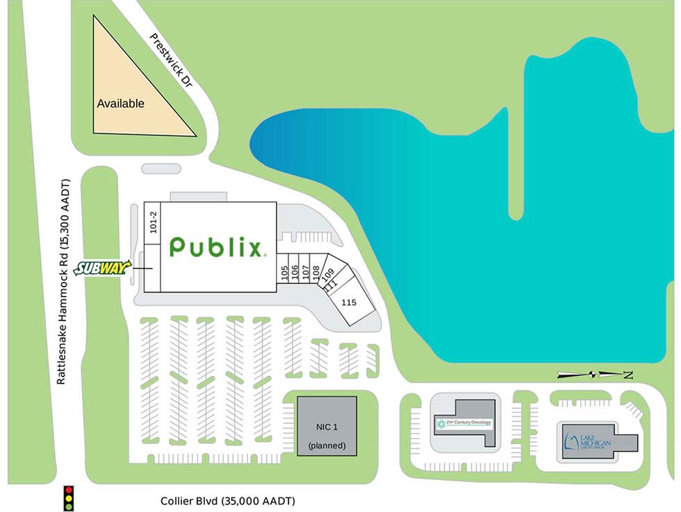 Naples Lakes Village Center siteplan