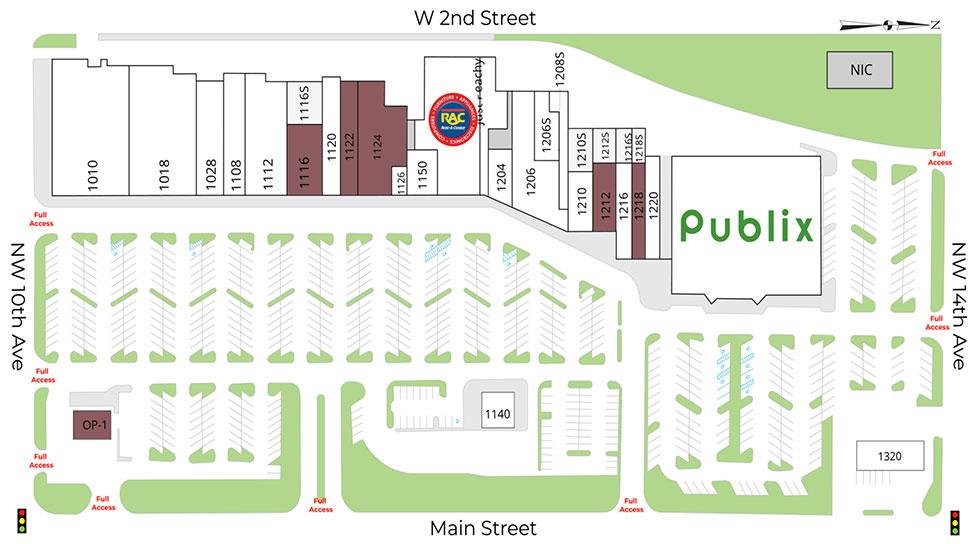 Gainesville Shopping Center site plan