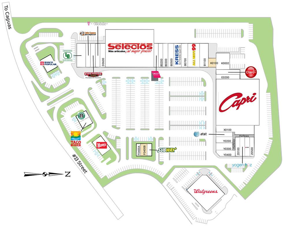 Plaza Los Prados site plan
